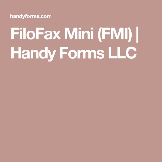FiloFax Mini (FMI) | Handy Forms LLC