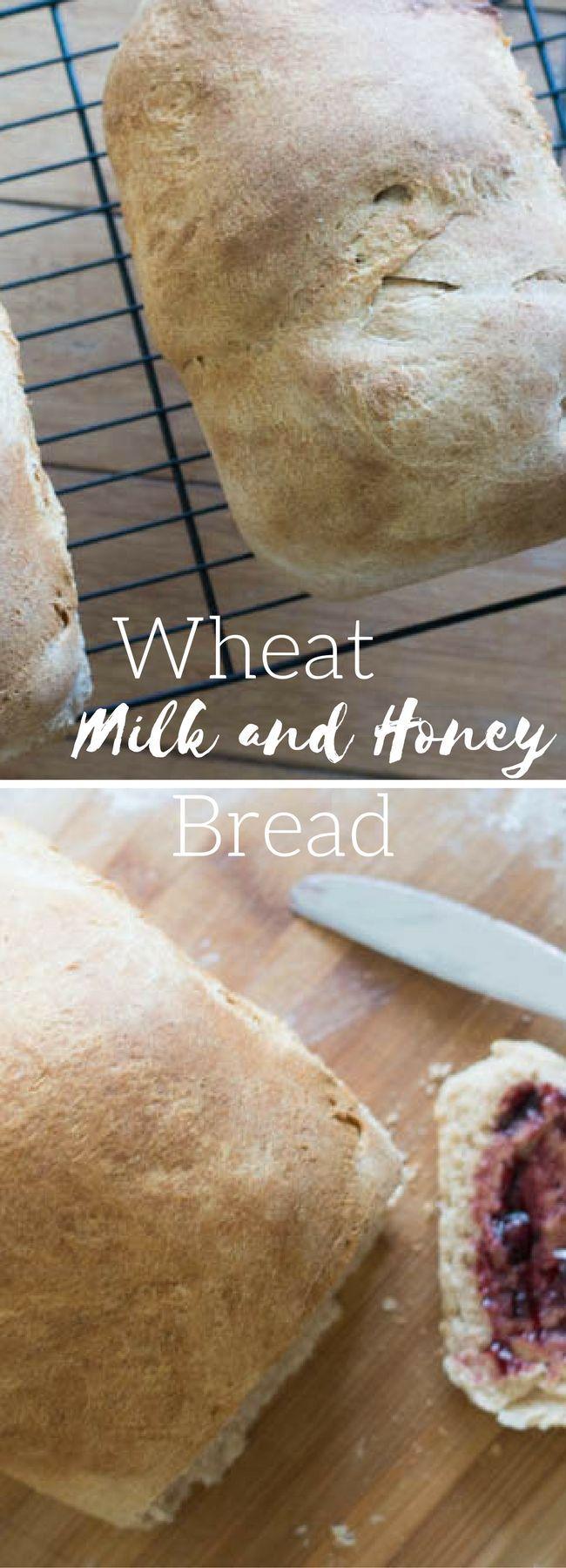 Wheat Bread / Homemade Wheat Bread / Milk and Honey Bread / Wheat Milk and Honey Bread / Homemade Bread / Bread Making