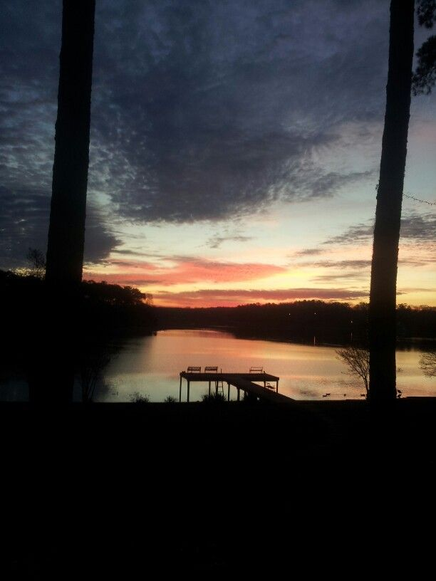 Winter sunrise on Logan Martin Lake