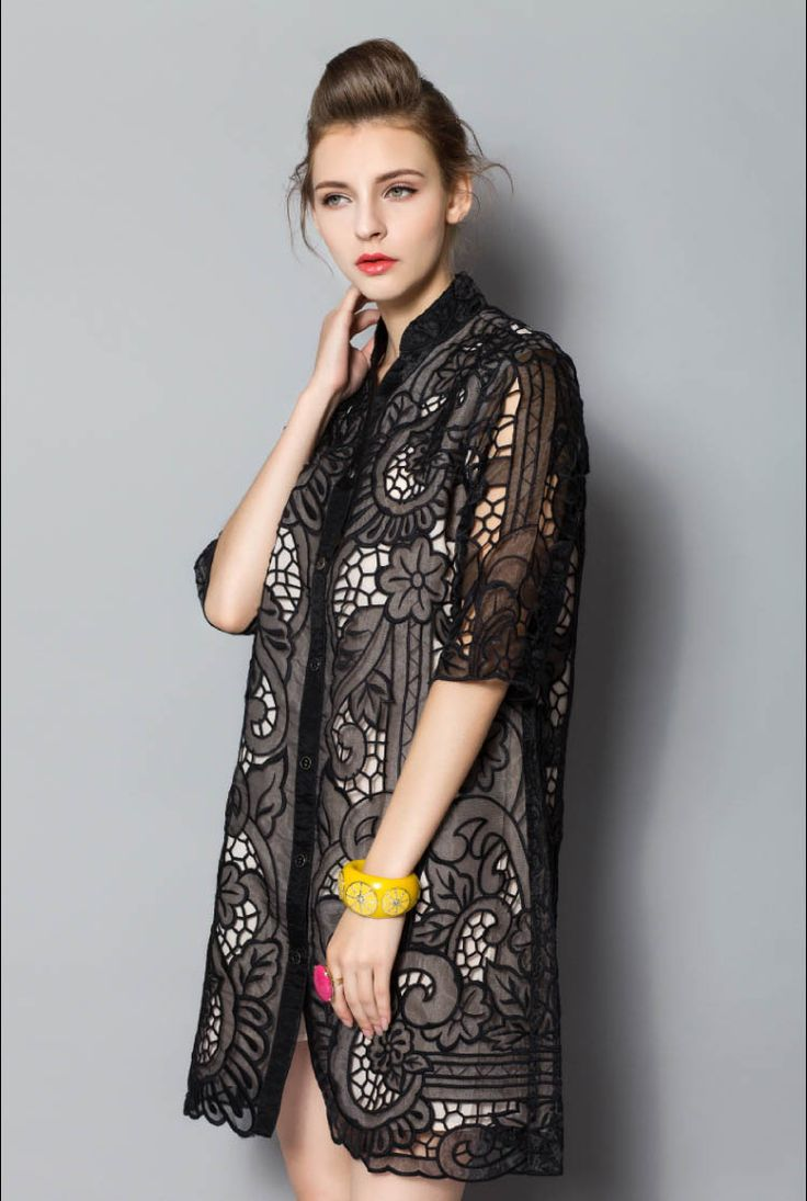 Image result for embroidery dress shirt - ladies