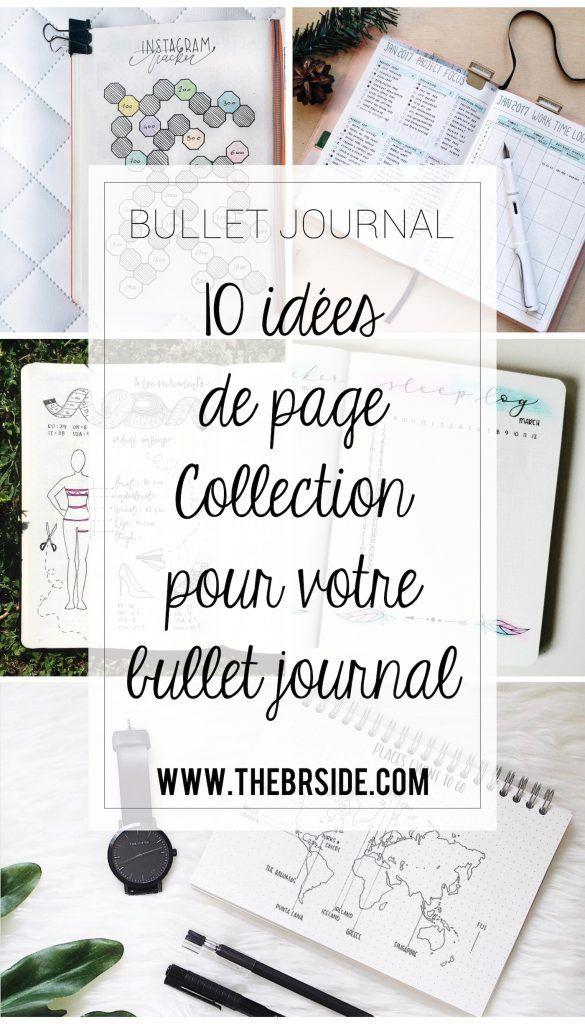 Idées pages présentation Bullet Journal