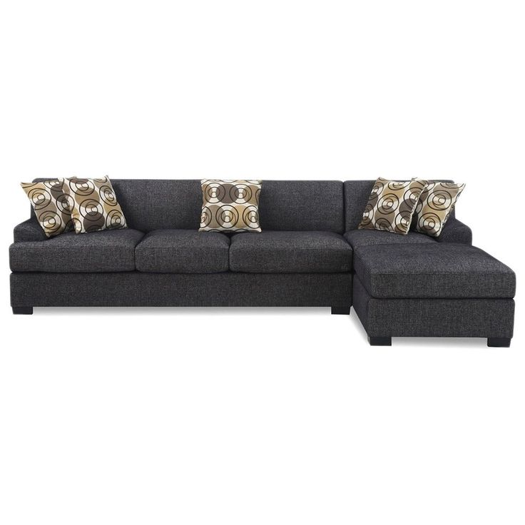 Madison 2 Piece Modern Ash Contemporary Fabric Sectional Sofa