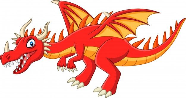 Cartoon Red Dragon Spitting Fire Premium Vector In 2021 Cartoon Dragon Red Dragon Vector Free