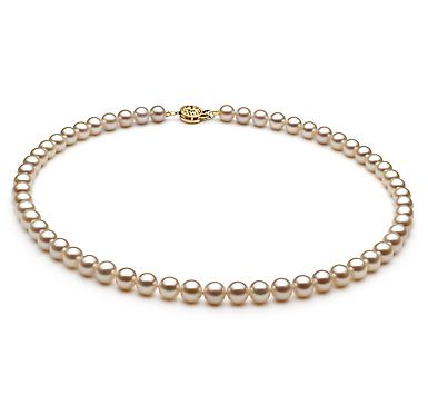 Ordalie Halskette - Weiß AAA 6-7mm Süßwasser
