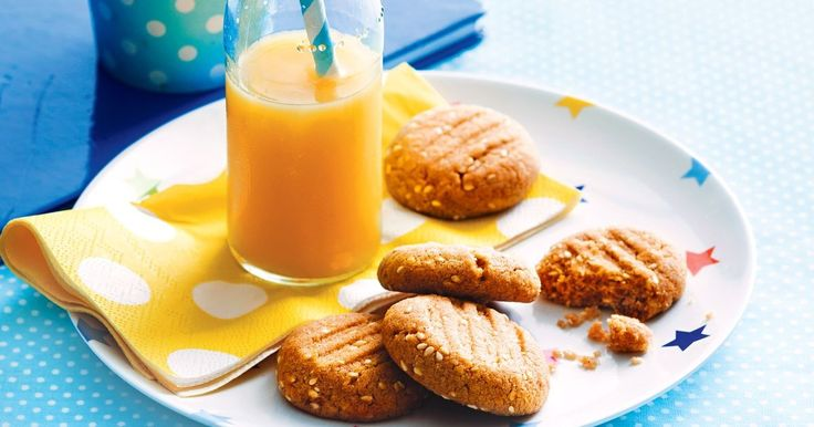 These egg-free, dairy-free bikkies will keep tummy and tastebuds content!