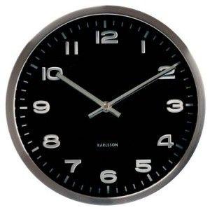 present time karlsson mini maxie wall clock black
