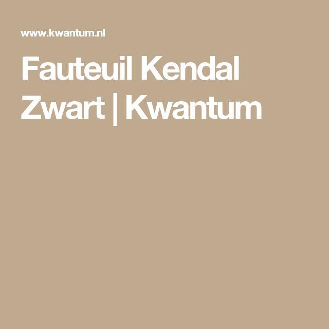 Fauteuil Kendal Zwart | Kwantum