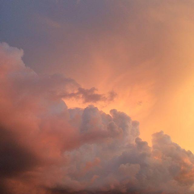 skies sunset nature