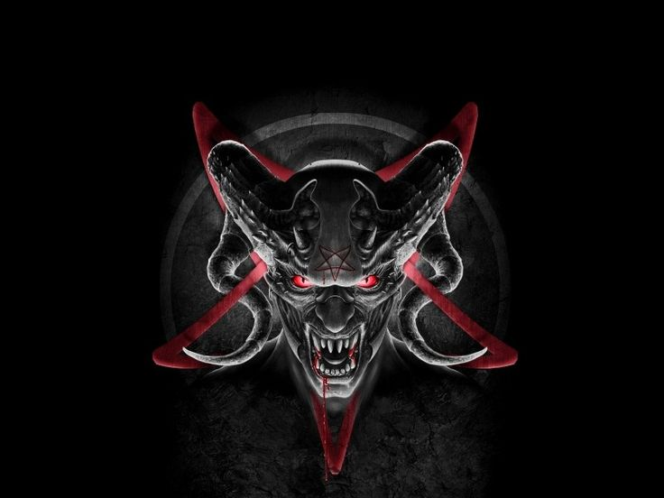 Demon devil horns satan pentagram online HD Wallpaper