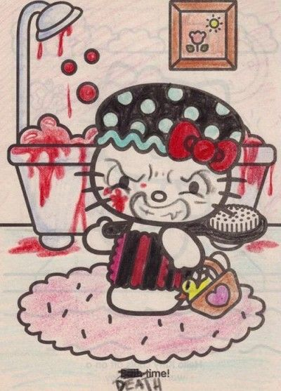 Evil Hello Kitty Coloring Pages : Best images about funny things on pinterest