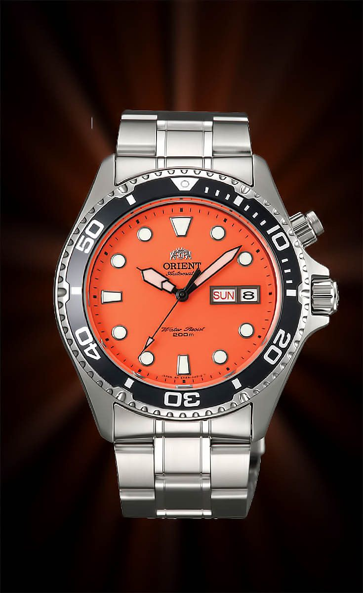 Orient Ray Watch Orange, Orient Ray Review, Orient Ray Movement