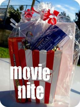 diy gift basket ideas                                   who doesn't love the movies