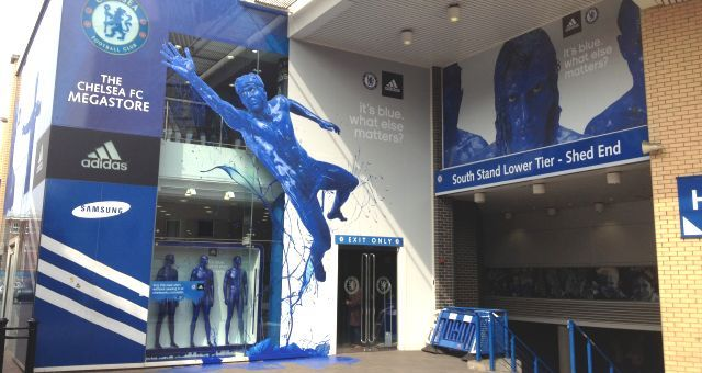 Chelsea FC Megastore, London, UK.