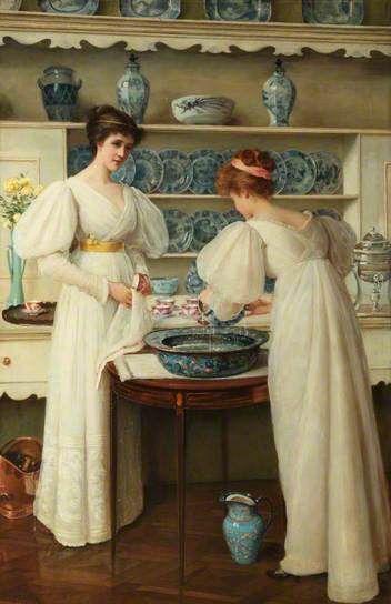 LOUISE JOPLING,1843-1933,Angol festő,Viktoriánus korszak, Kék és fehér