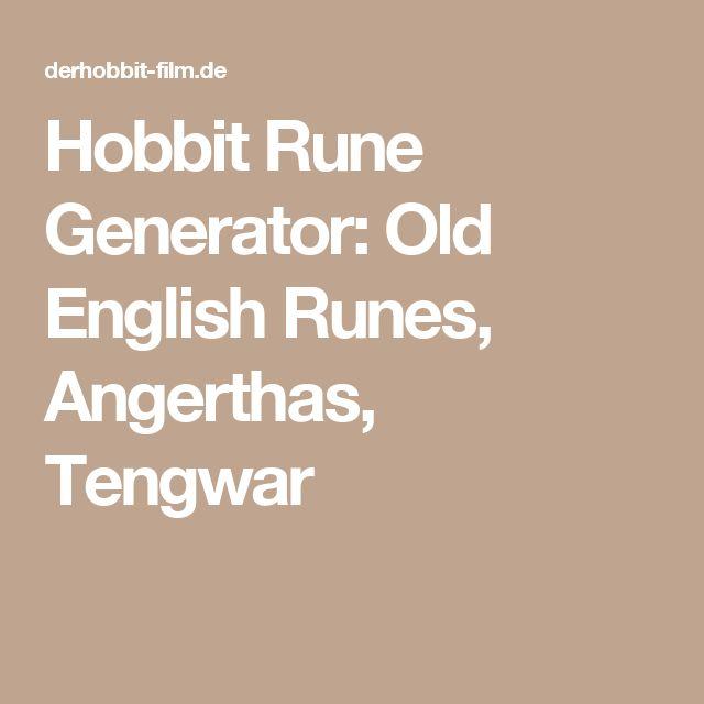 Olde English Name Generator