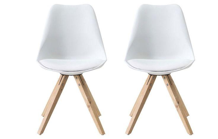 Set of Two Bojan White Bucket Chair