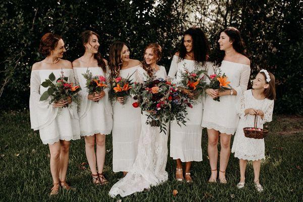 Boho bridesmaids  #wedding #weddings #weddinginspiration #engaged #aislesociety #gardenwedding