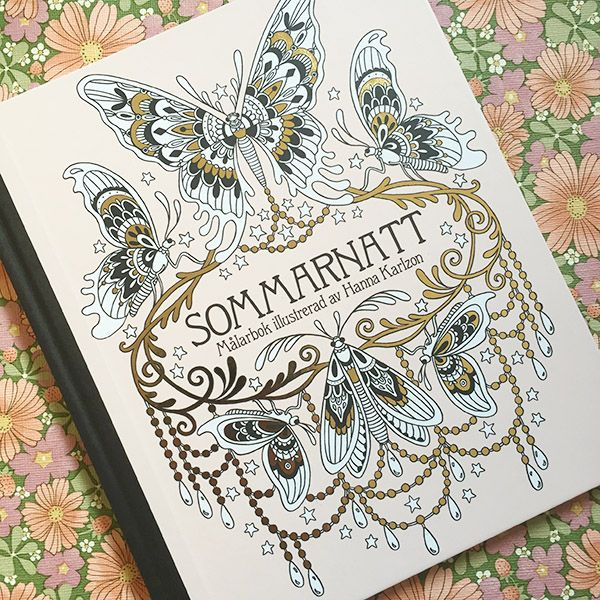 Hanna Karlzon Sommarnatt Coloring Book Released April 2016 Available To Order At