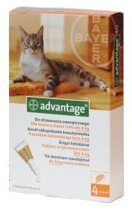 Bayer ADVANTAGE Spot-on Cat 4x0,4ml (pro kočky do 4kg) | MALL.CZ