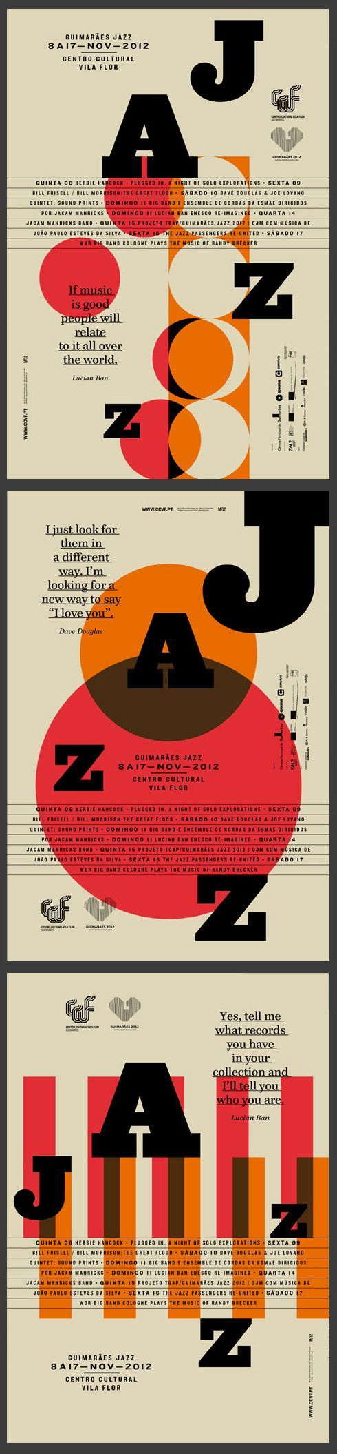 GUIMARÃES JAZZ 2012 by Atelier Martinoña , via Behance Typography Poster