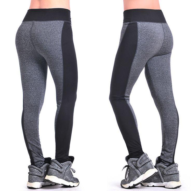 S-XL, New 2015 Spring-Summer Women's Sports Leggings High Waist  Elastic Trousers Fashion Running Pants Free Shipping