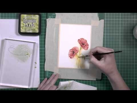 Another way of watercoloring a Poppy - Altenew Blog