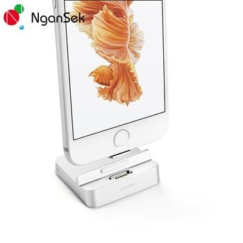 Dock Charger For Apple iPhone 6 6s 7 Plus Docking Station For iPhone SE 5 5C iPod Charger Dock Magnetic Bracelet Charger NganSek