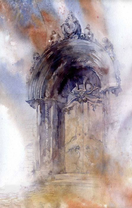 Watercolor by Polish artist