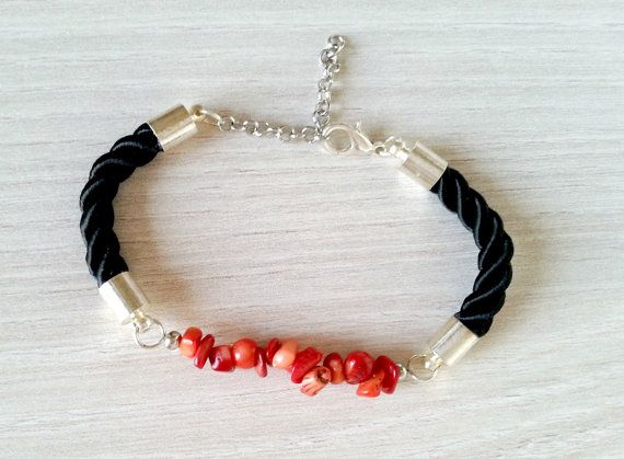 Hey, I found this really awesome Etsy listing at https://www.etsy.com/listing/225536139/red-coral-bracelet-rope-bracelet-natural
