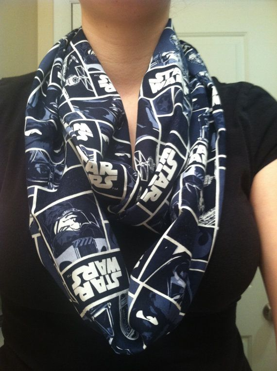 Star Wars blue infinity scarf by kimfinityscarves on Etsy, $17.00