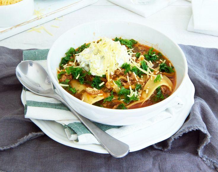 Slow Cooked Lasagne Soup