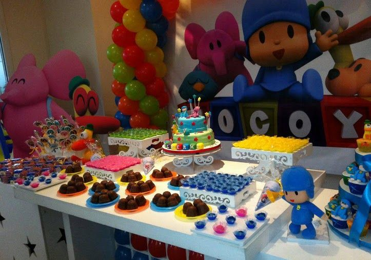 Mesa principal pocoyo | Joell's Birthday Party | Pinterest ...