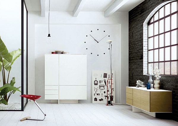 Gastapelte Schubladen Designer Kommode - Design