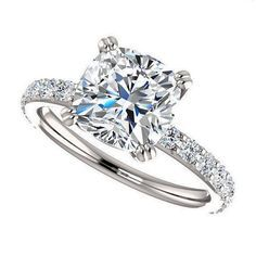 amora gem sage ring  2 carat engagement ring by jhollywooddesigns