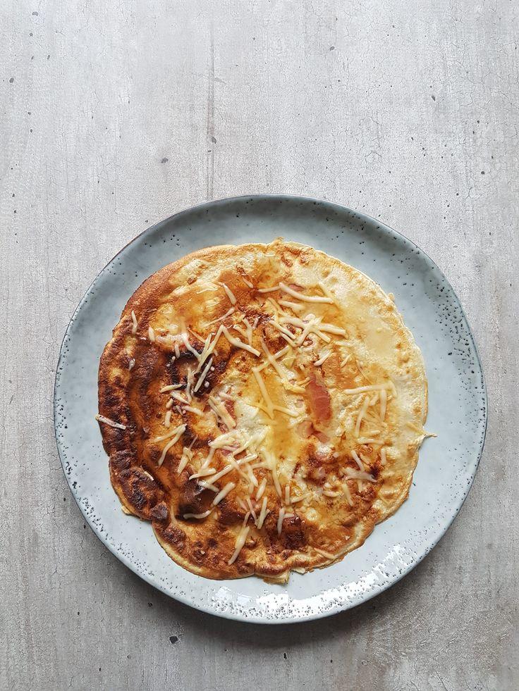 Ik heb gisteren deze hartige pannenkoek als ontbijt genuttigd. Ze zijn makkelijk om te maken en heerlijk! Je kunt het recept gebruiken als basis voor allerlei variaties :) Enjoy!