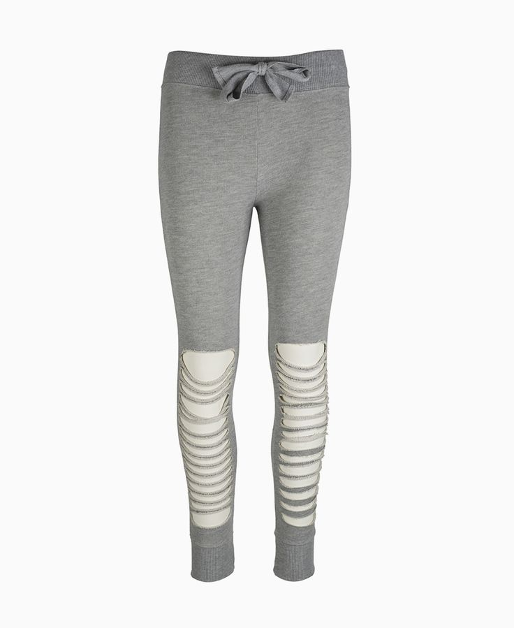 Mooch - Rip Detail Joggers - Grey