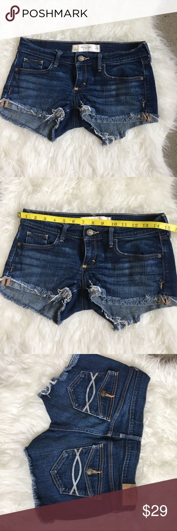 Abercrombie and fitch shorts size 2 Perfect condition (NO TRADE) Abercrombie & Fitch Shorts Jean Shorts