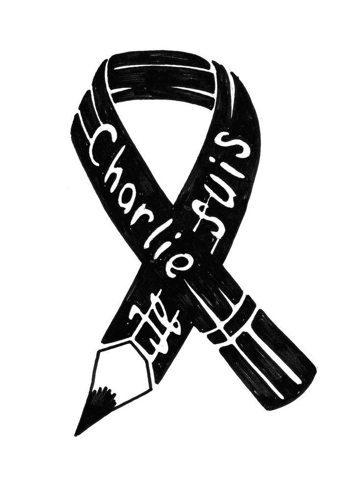 Charlie Hebdo ribbon