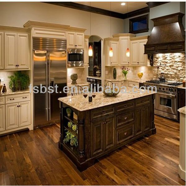 Best Floor Stains Images On Pinterest Home Architecture And - Kitchen cabinets and flooring combinations