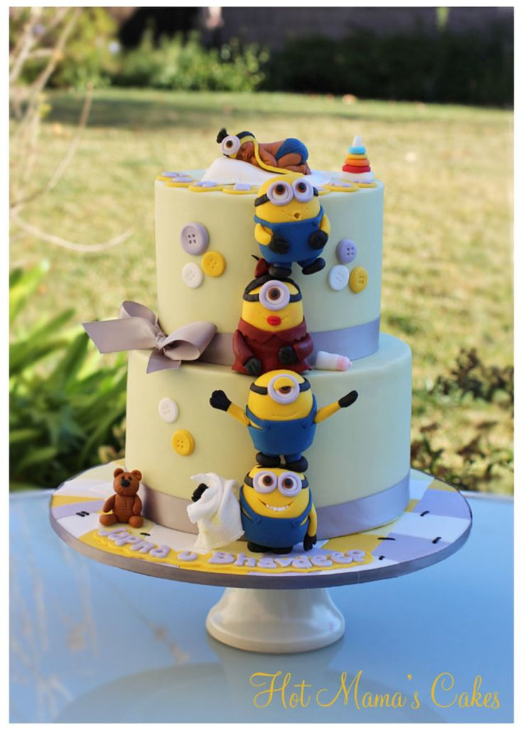 minion baby shower themed baby showers bridal showers character cakes