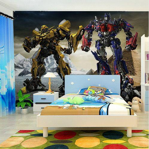 3d Transformers Cartoon Custom Kidu0027s Wallpaper Mural