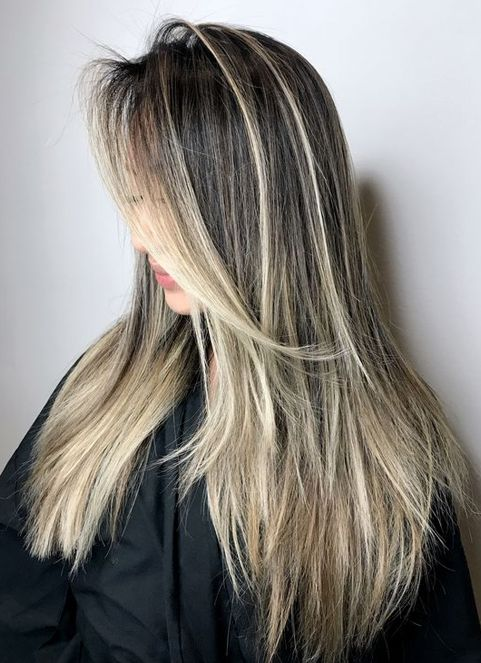 Balayage for Dark Hair Color Ideas for Spring 2018
