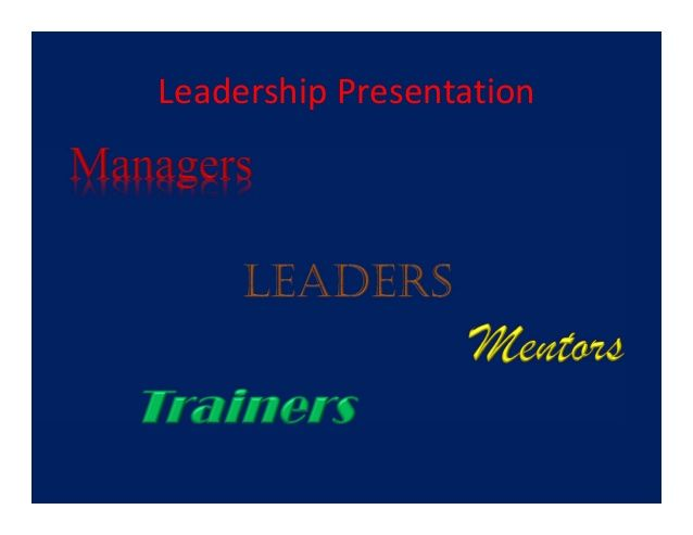 Martin Raffol leadership presentation  by Martin Raffol via slideshare