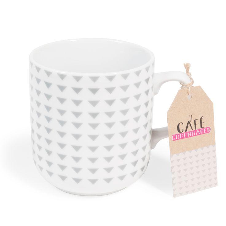 Kaffeebecher COPENHAGEN aus Porzellan, grau   - Im 4er-Set angeboten