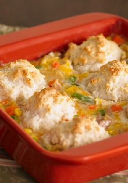 Chicken & Biscuits Just one look at this hot and creamy classic ...