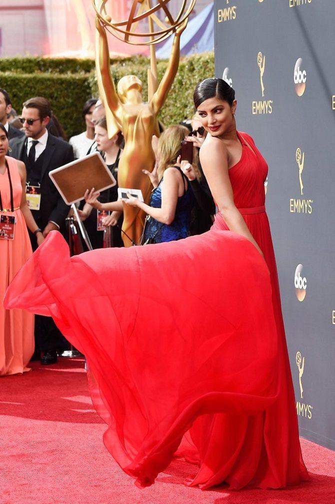 Priyanka Chopra red hot look at Emmys