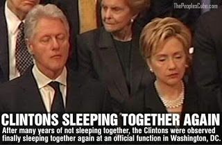 TOTUS: Bill and Hillary Clinton Sleeping together again- it's so exhausting being Evil!!