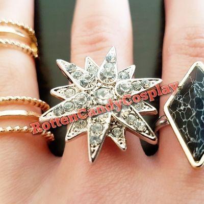Starburst ring for nightclub harley cosplay
