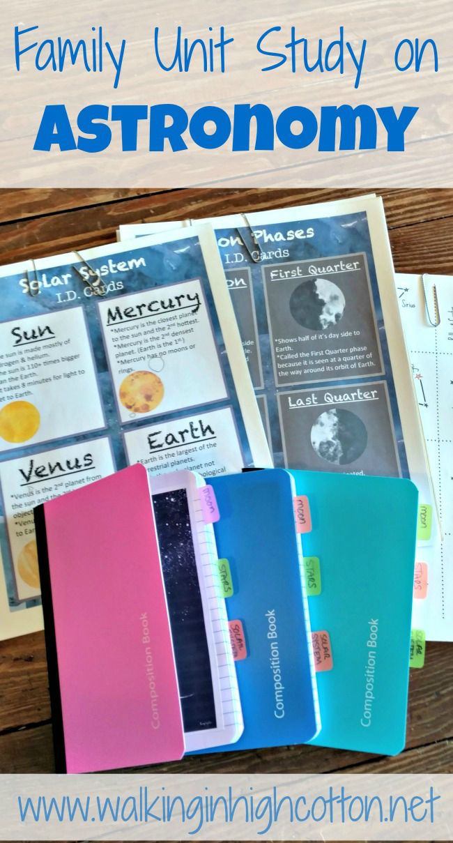 A Simple Family Unit Study on Astronomy for Fun Su…