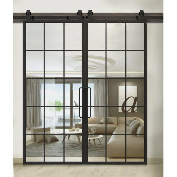 This French Mountain Glass Interior Barn Door Provides A Perfect Sense Of Regularity Proporti Glass Barn Doors Interior Glass Barn Doors French Doors Interior